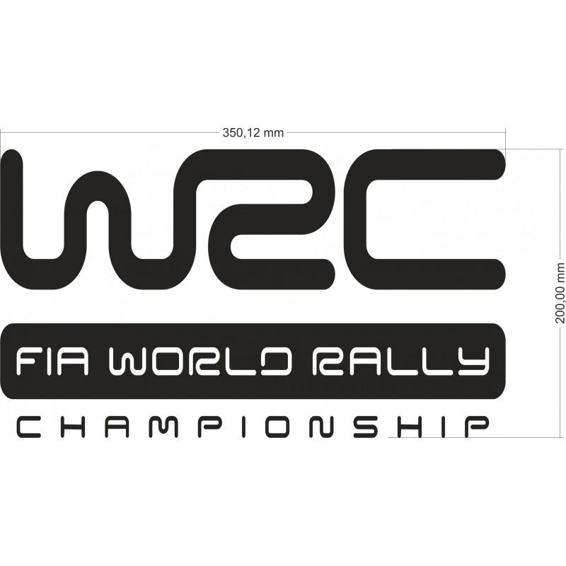 Комплект стикери Световен рали шампионат  WRC  World Rally Championship