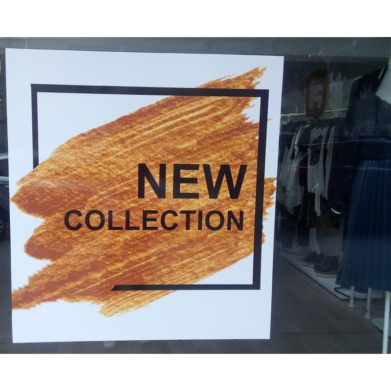 Нова колекция стикер за витрина на магазин Злато
