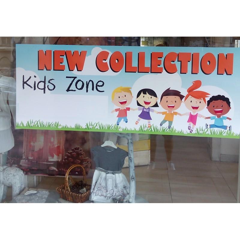 Нова колекция стикер за витрина на детски магазин