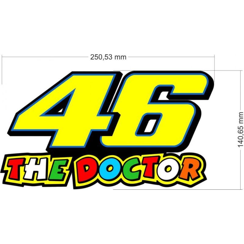 The Doctor, Валентино Роси, Стикер  за мотор или кола, 46 номер