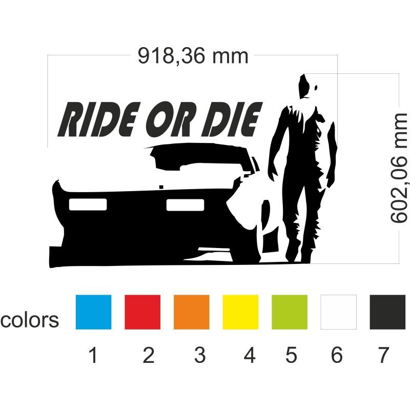 Стикер за стена Ride or Die