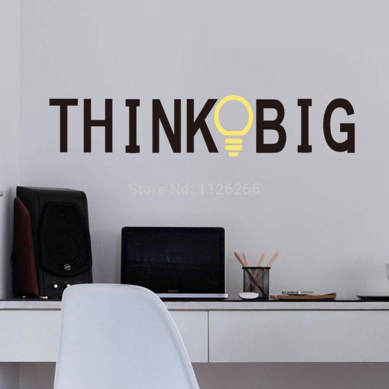 Стикер, лепенка за стена Think Big