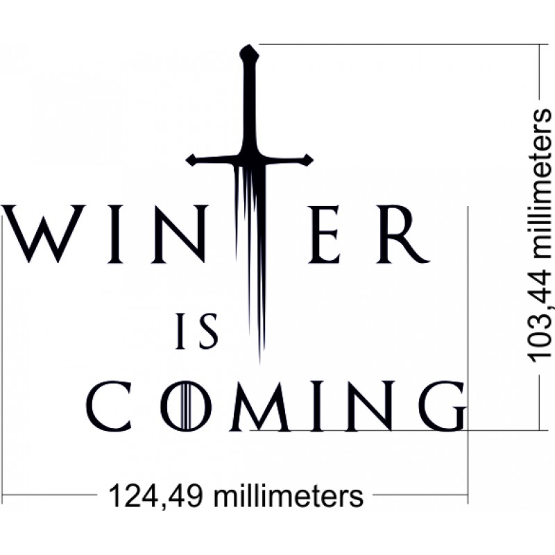 Game of Thrones Стикер Winter is coming
